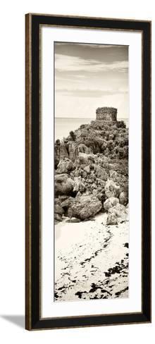 ¡Viva Mexico! Panoramic Collection - Tulum Ruins along Caribbean Coastline II-Philippe Hugonnard-Framed Art Print