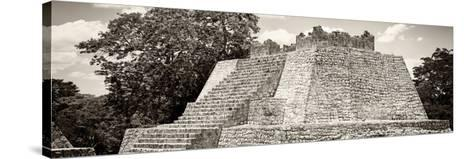 ¡Viva Mexico! Panoramic Collection - Maya Archaeological Site - Campeche I-Philippe Hugonnard-Stretched Canvas Print