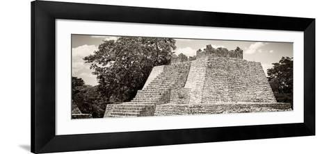 ¡Viva Mexico! Panoramic Collection - Maya Archaeological Site - Campeche I-Philippe Hugonnard-Framed Art Print