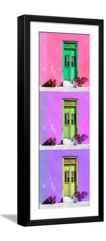 ¡Viva Mexico! Panoramic Collection - Tree Colorful Doors XV-Philippe Hugonnard-Framed Art Print