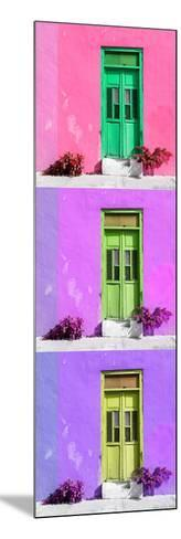 ¡Viva Mexico! Panoramic Collection - Tree Colorful Doors XV-Philippe Hugonnard-Mounted Photographic Print