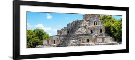 ¡Viva Mexico! Panoramic Collection - Maya Archaeological Site - Campeche III-Philippe Hugonnard-Framed Art Print