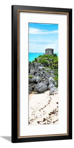 ?Viva Mexico! Panoramic Collection - Tulum Ruins along Caribbean Coastline-Philippe Hugonnard-Framed Art Print