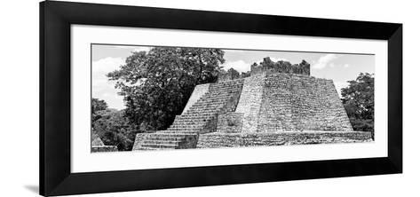 ¡Viva Mexico! Panoramic Collection - Maya Archaeological Site - Campeche II-Philippe Hugonnard-Framed Art Print