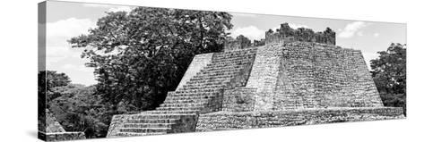 ¡Viva Mexico! Panoramic Collection - Maya Archaeological Site - Campeche II-Philippe Hugonnard-Stretched Canvas Print