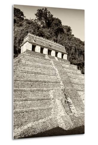 ?Viva Mexico! B&W Collection - Mayan Temple of Inscriptions VIII - Palenque-Philippe Hugonnard-Metal Print