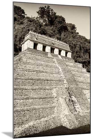 ?Viva Mexico! B&W Collection - Mayan Temple of Inscriptions VIII - Palenque-Philippe Hugonnard-Mounted Photographic Print