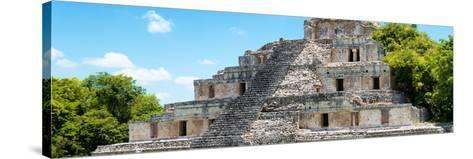 ¡Viva Mexico! Panoramic Collection - Maya Archaeological Site - Campeche III-Philippe Hugonnard-Stretched Canvas Print