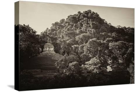 ?Viva Mexico! B&W Collection - Mayan Ruins in Palenque at Sunrise-Philippe Hugonnard-Stretched Canvas Print
