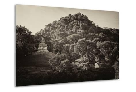 ?Viva Mexico! B&W Collection - Mayan Ruins in Palenque at Sunrise-Philippe Hugonnard-Metal Print