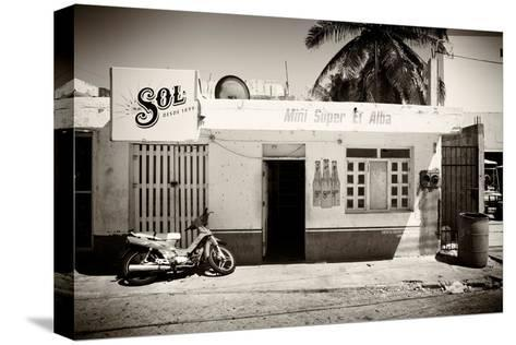 ?Viva Mexico! B&W Collection - Supermarket Isla Mujeres-Philippe Hugonnard-Stretched Canvas Print