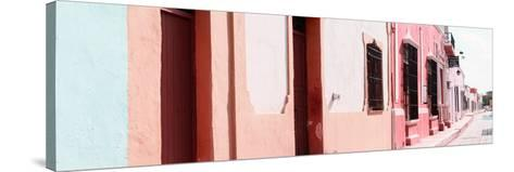 ¡Viva Mexico! Panoramic Collection - Campeche Colorful Street III-Philippe Hugonnard-Stretched Canvas Print