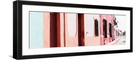 ¡Viva Mexico! Panoramic Collection - Campeche Colorful Street III-Philippe Hugonnard-Framed Art Print