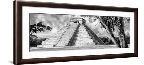 ¡Viva Mexico! Panoramic Collection - El Castillo Pyramid - Chichen Itza IX-Philippe Hugonnard-Framed Art Print