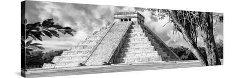 ¡Viva Mexico! Panoramic Collection - El Castillo Pyramid - Chichen Itza IX-Philippe Hugonnard-Stretched Canvas Print