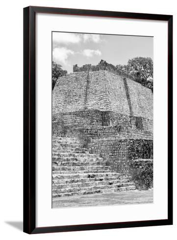 ?Viva Mexico! B&W Collection - Maya Archaeological Site V - Edzna-Philippe Hugonnard-Framed Art Print