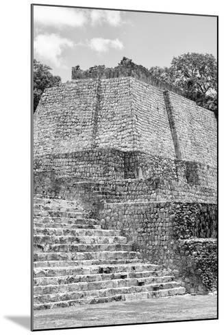 ?Viva Mexico! B&W Collection - Maya Archaeological Site V - Edzna-Philippe Hugonnard-Mounted Photographic Print