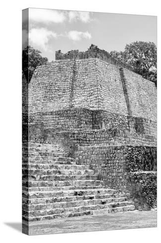 ?Viva Mexico! B&W Collection - Maya Archaeological Site V - Edzna-Philippe Hugonnard-Stretched Canvas Print