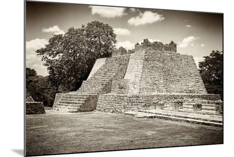 ¡Viva Mexico! B&W Collection - Maya Archaeological Site VII - Edzna-Philippe Hugonnard-Mounted Photographic Print