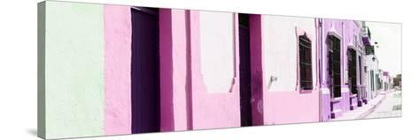 ¡Viva Mexico! Panoramic Collection - Campeche Colorful Street II-Philippe Hugonnard-Stretched Canvas Print