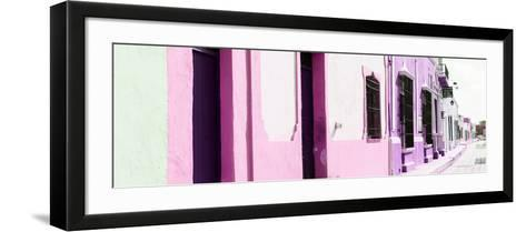 ¡Viva Mexico! Panoramic Collection - Campeche Colorful Street II-Philippe Hugonnard-Framed Art Print