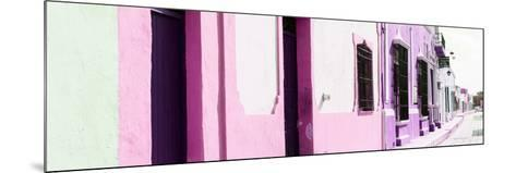 ¡Viva Mexico! Panoramic Collection - Campeche Colorful Street II-Philippe Hugonnard-Mounted Photographic Print