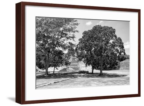 ¡Viva Mexico! B&W Collection - Maya Archaeological Site VI - Edzna-Philippe Hugonnard-Framed Art Print