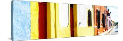 ¡Viva Mexico! Panoramic Collection - Campeche Colorful Street-Philippe Hugonnard-Stretched Canvas Print