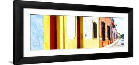 ¡Viva Mexico! Panoramic Collection - Campeche Colorful Street-Philippe Hugonnard-Framed Art Print