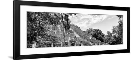 ¡Viva Mexico! Panoramic Collection - Pyramyd of the ancient Mayan City VII - Calakmul-Philippe Hugonnard-Framed Art Print