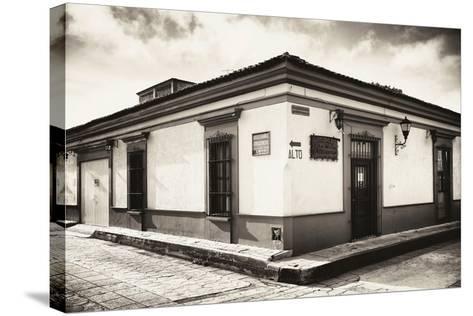 ?Viva Mexico! B&W Collection - Urban Scene in San Cristobal de Las Casas III-Philippe Hugonnard-Stretched Canvas Print