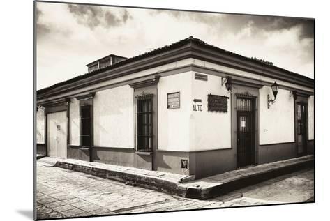 ?Viva Mexico! B&W Collection - Urban Scene in San Cristobal de Las Casas III-Philippe Hugonnard-Mounted Photographic Print