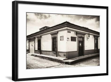 ?Viva Mexico! B&W Collection - Urban Scene in San Cristobal de Las Casas III-Philippe Hugonnard-Framed Art Print