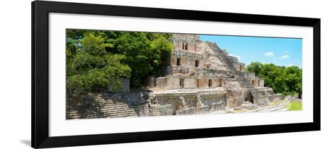 ¡Viva Mexico! Panoramic Collection - Maya Archaeological Site - Campeche VI-Philippe Hugonnard-Framed Art Print