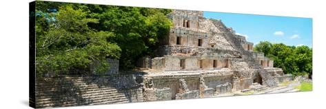 ¡Viva Mexico! Panoramic Collection - Maya Archaeological Site - Campeche VI-Philippe Hugonnard-Stretched Canvas Print