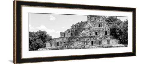 ¡Viva Mexico! Panoramic Collection - Maya Archaeological Site - Campeche V-Philippe Hugonnard-Framed Art Print