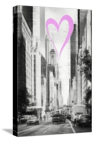 Luv Collection - New York City - Manhattan Traffic-Philippe Hugonnard-Stretched Canvas Print