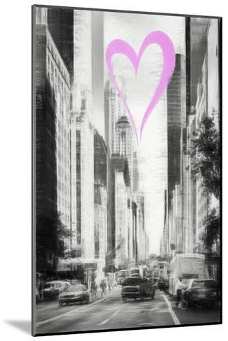 Luv Collection - New York City - Manhattan Traffic-Philippe Hugonnard-Mounted Giclee Print