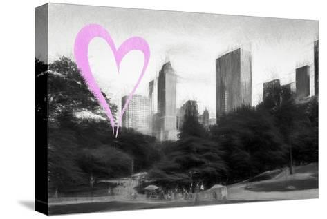 Luv Collection - New York City - The Central Park-Philippe Hugonnard-Stretched Canvas Print