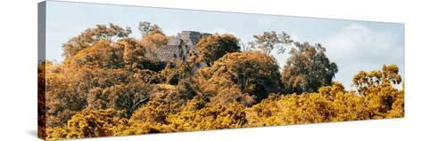 ¡Viva Mexico! Panoramic Collection - Ancient Maya City within the Jungle - Calakmul-Philippe Hugonnard-Stretched Canvas Print