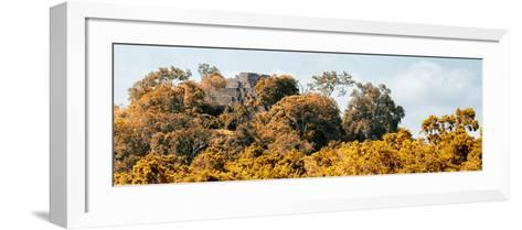 ¡Viva Mexico! Panoramic Collection - Ancient Maya City within the Jungle - Calakmul-Philippe Hugonnard-Framed Art Print