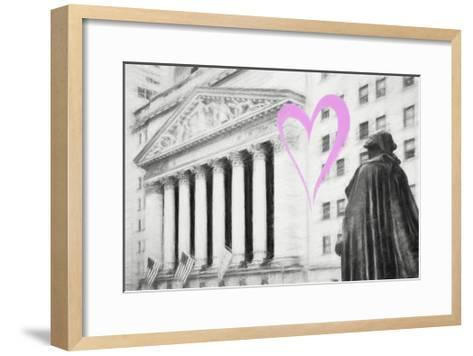 Luv Collection - New York City - Wall Street-Philippe Hugonnard-Framed Art Print