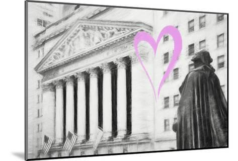 Luv Collection - New York City - Wall Street-Philippe Hugonnard-Mounted Giclee Print