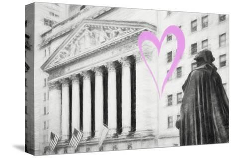 Luv Collection - New York City - Wall Street-Philippe Hugonnard-Stretched Canvas Print