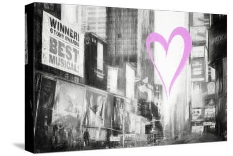 Luv Collection - New York City - Times Square-Philippe Hugonnard-Stretched Canvas Print