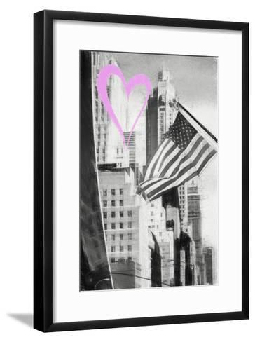 Luv Collection - New York City - American Flag-Philippe Hugonnard-Framed Art Print