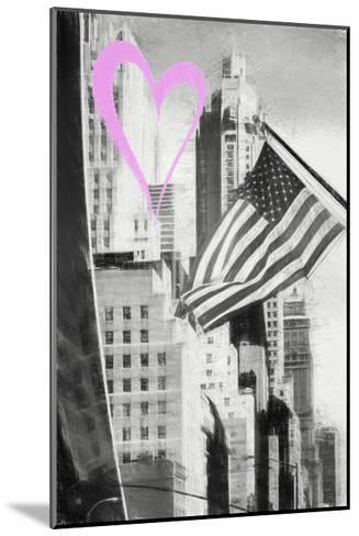 Luv Collection - New York City - American Flag-Philippe Hugonnard-Mounted Giclee Print