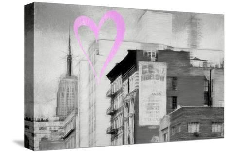 Luv Collection - New York City - Buildings Style-Philippe Hugonnard-Stretched Canvas Print