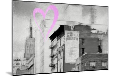 Luv Collection - New York City - Buildings Style-Philippe Hugonnard-Mounted Giclee Print
