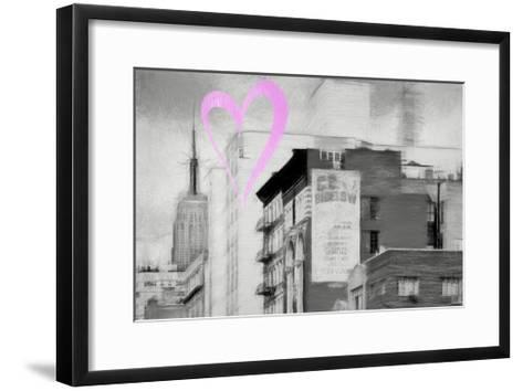 Luv Collection - New York City - Buildings Style-Philippe Hugonnard-Framed Art Print